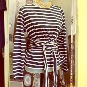 J.Crew gorgeous striped tie top